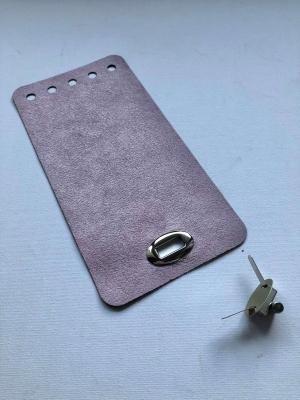 Textilbőr táskazár-pasztell lila